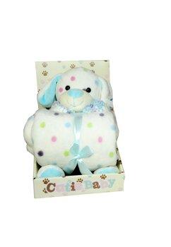 Paturica, Cutie Baby, cu ursulet albastru, 100x70 cm