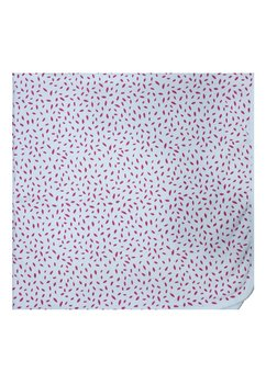 Paturica dubla, bumbac, frunzulite roz, 75 x 75 cm