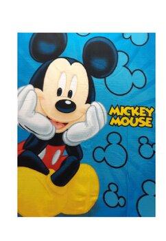 Paturica fleece, Mickey Mouse, albastra