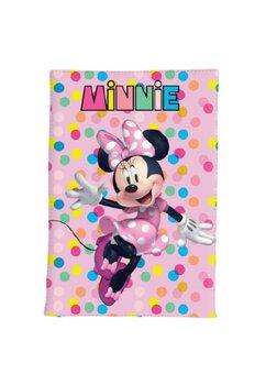 Paturica fleece, Minnie Mouse, roz cu buline, 140 x 100 cm