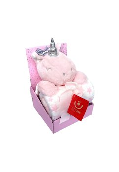 Paturica, jucarie plus, unicorn roz, 75x100cm