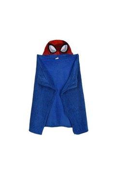 Paturica, pluss cu gluga, albastra, Spider Man, 80 x 120 cm