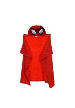 Paturica, pluss cu gluga, rosie, Spider Man, 80 x 120 cm
