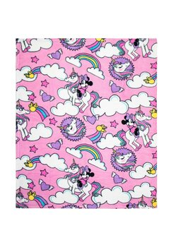 Paturica pluss, Minnie Mouse cu Unicorni si norisori, 90x120 cm