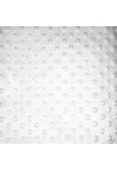 Paturica soft, cu volanase, alba, 80x100cm