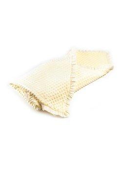 Paturica soft dubla botez ,crem, 80 x 100 cm