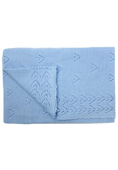 Paturica tricotata, Ana, albastra, 90x90cm