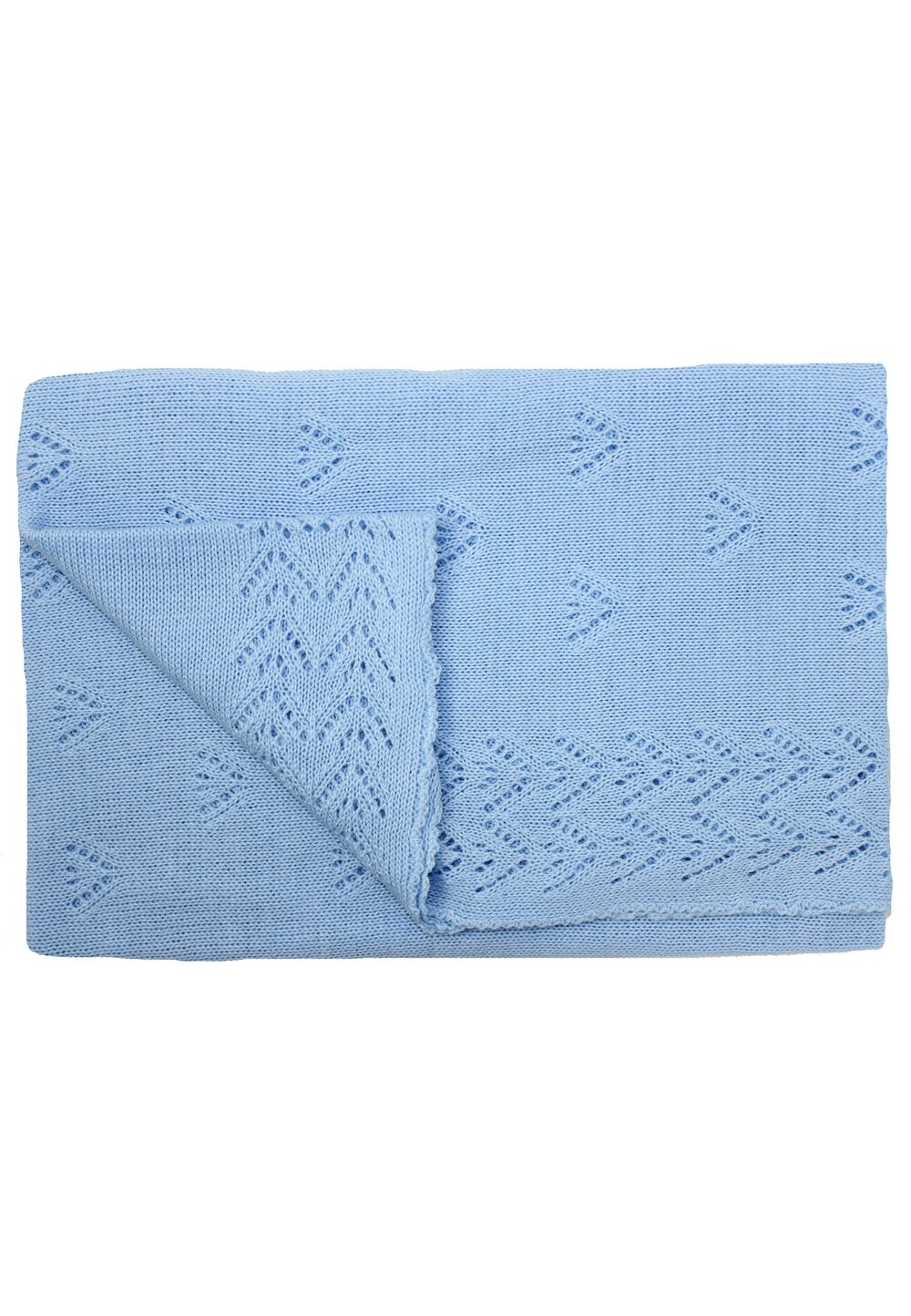 Paturica tricotata, Ana, albastra, 90x90cm imagine