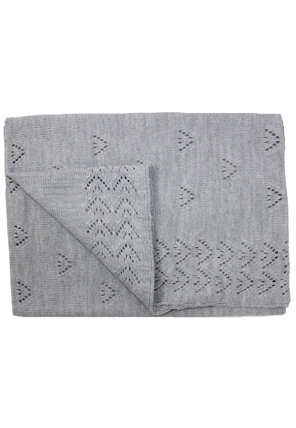 Paturica tricotata, Ana, gri, 90x90cm imagine