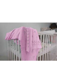 Paturica tricotata, Ana, roz, 90x90cm