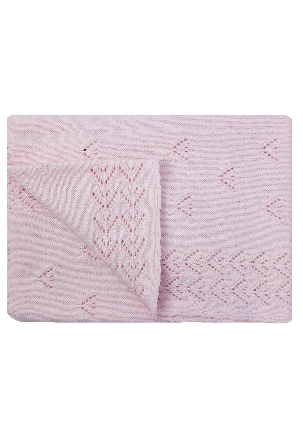 Paturica tricotata, Ana, roz, 90x90cm imagine