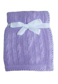 Paturica tricotata, Baby, mov, 75x100cm