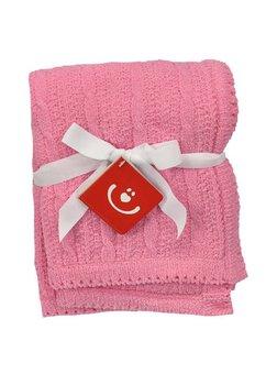 Paturica tricotata, Baby, roz, 75x100cm