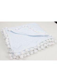 Paturica tricotata, cu ciucuri, 80x100cm