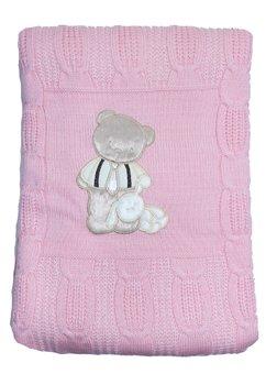 Paturica tricotata,  cu plus, roz