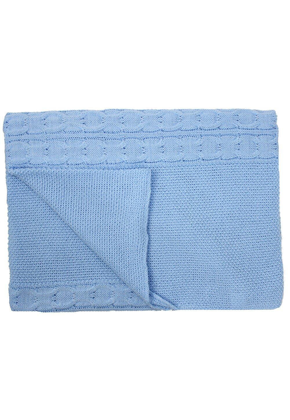 Paturica tricotata, Eva, albastra, 90x90cm imagine
