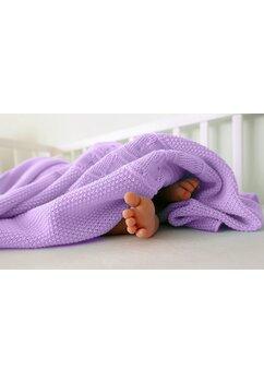 Paturica tricotata, Eva, mov, 90x90cm