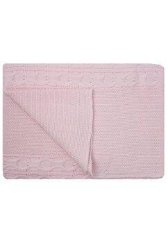 Paturica tricotata, Eva, roz, 90x90cm