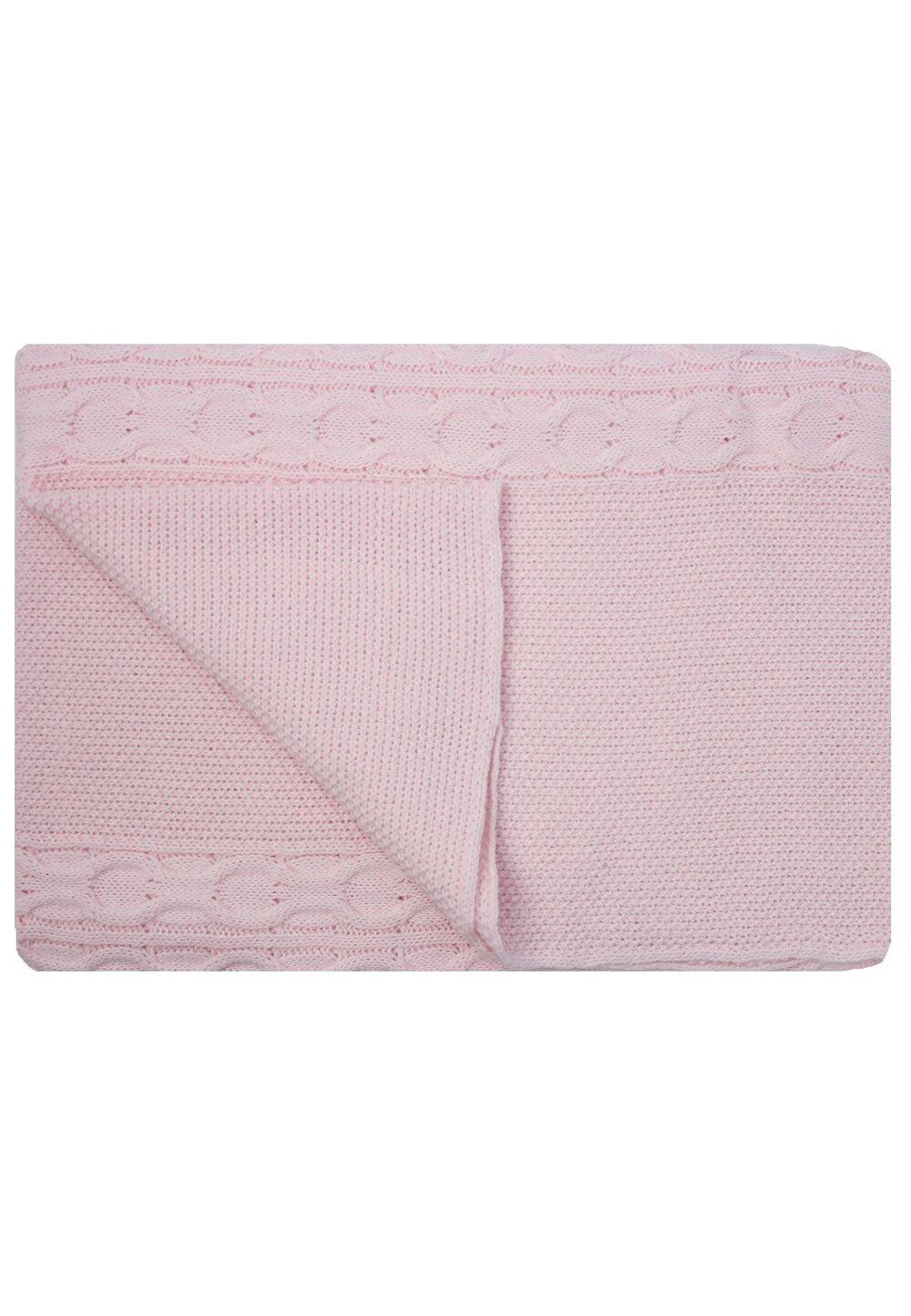 Paturica tricotata, Eva, roz, 90x90cm imagine