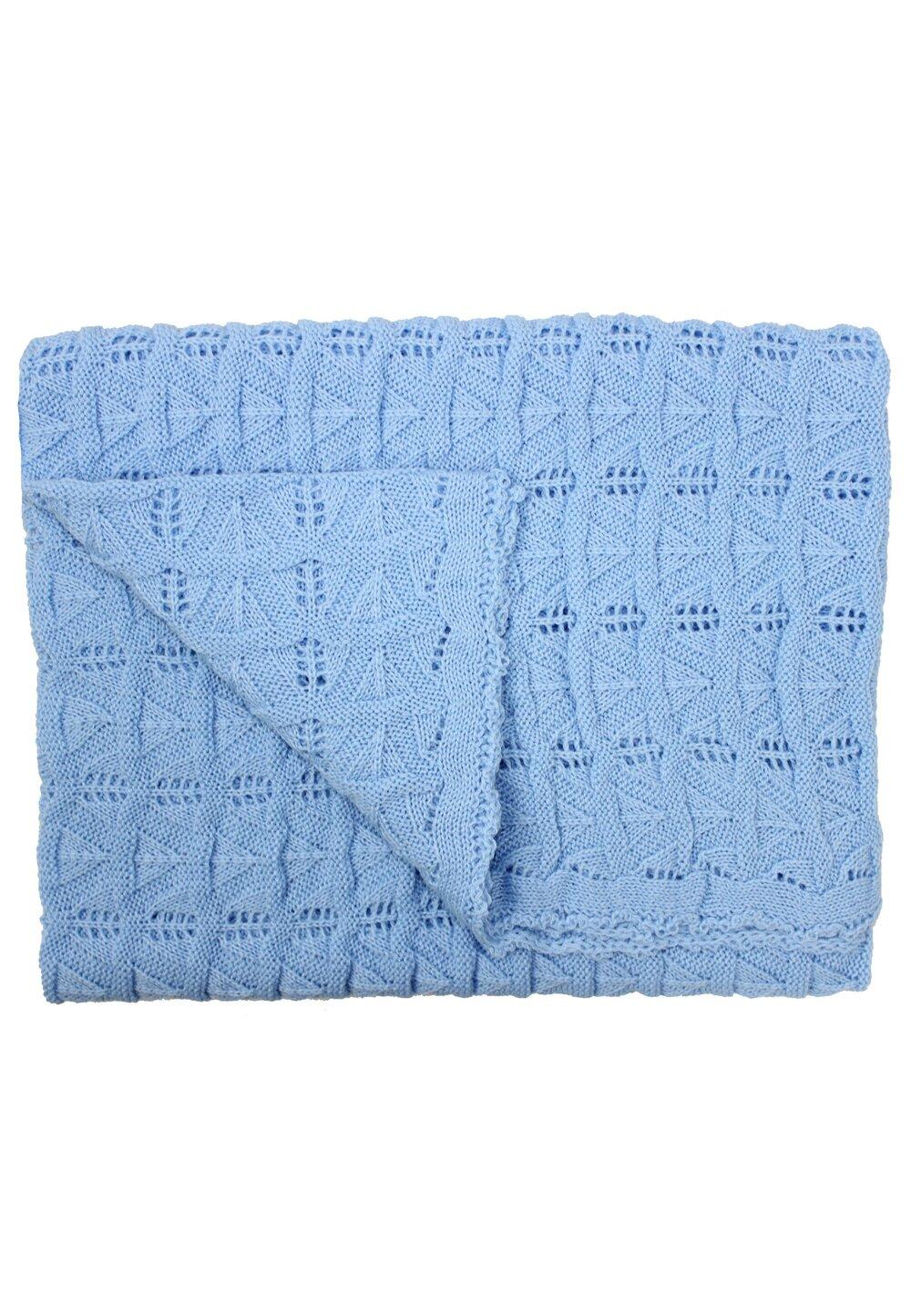 Paturica tricotata, Lola, albastra, 90x90cm imagine