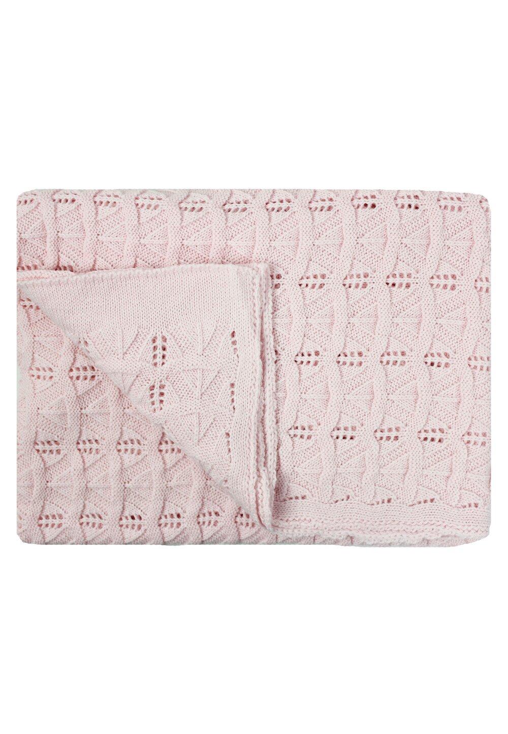 Paturica tricotata, Lola, roz, 90x90cm imagine