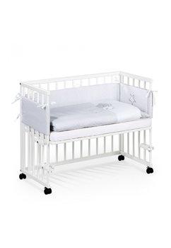 Patut bebe, lemn, Piccolo, alb , 95x45 cm + Saltea patut, Picolo,90x45 cm