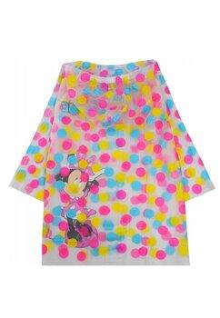 Pelerina de ploaie, Minnie, transparenta cu buline colorate