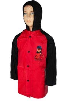 Pelerina de ploaie, PVC, cu imprimeu, Lady Bug, rosie