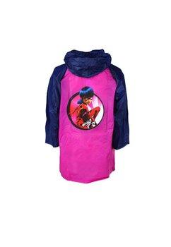 Pelerina de ploaie, PVC, cu imprimeu, Lady Bug, roz