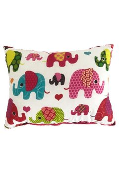 Perna 2 fete, minky roz inchis si elefantei, 30*40 cm