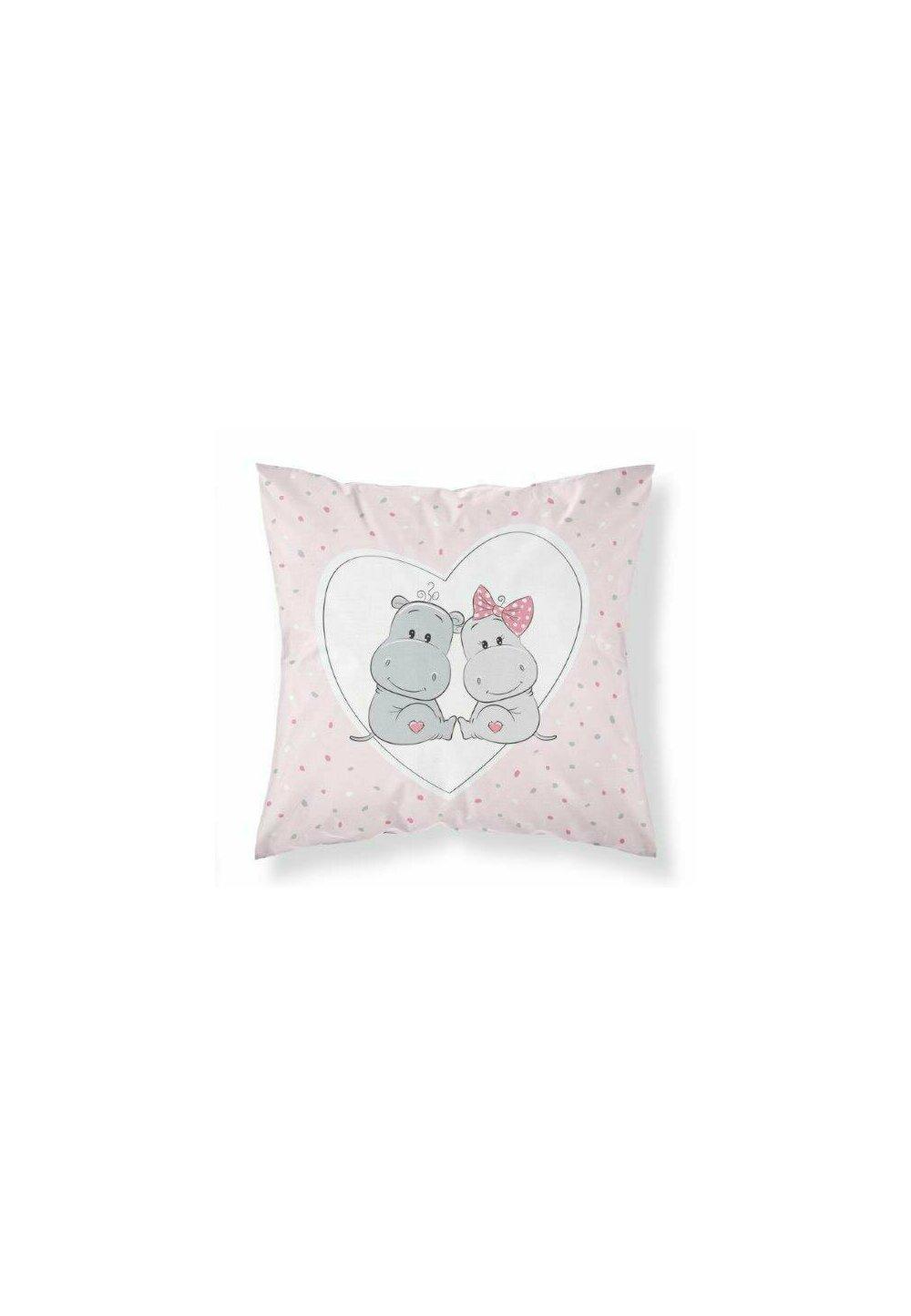 Perna, Hipo, fetita si baiat, roz, 40x40 cm imagine