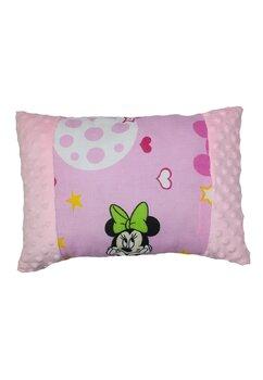 Perna, Mickey si Minnie, minky roz cu stelute, 30x40 cm