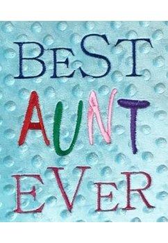 Perna minky, turcoaz, Best aunt ever