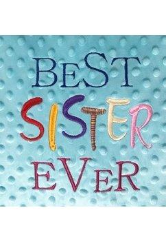 Perna minky, turcoaz, Best sister ever