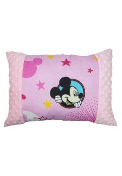 Perna, Minnie si Mickey, minky roz deschis, 30x40 cm