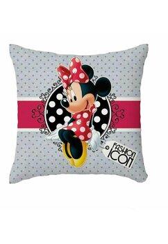 Perna, Minnie Mouse, gri cu bulinute gri, 40x40 cm