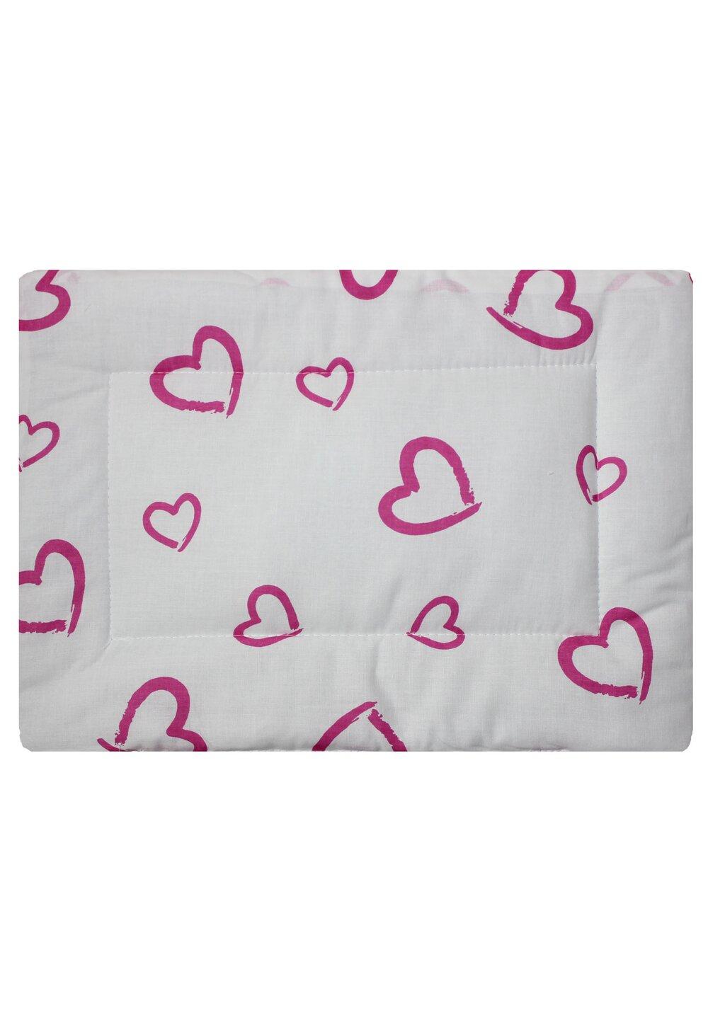 Perna slim, alba cu inimioare roz, 37x28cm imagine