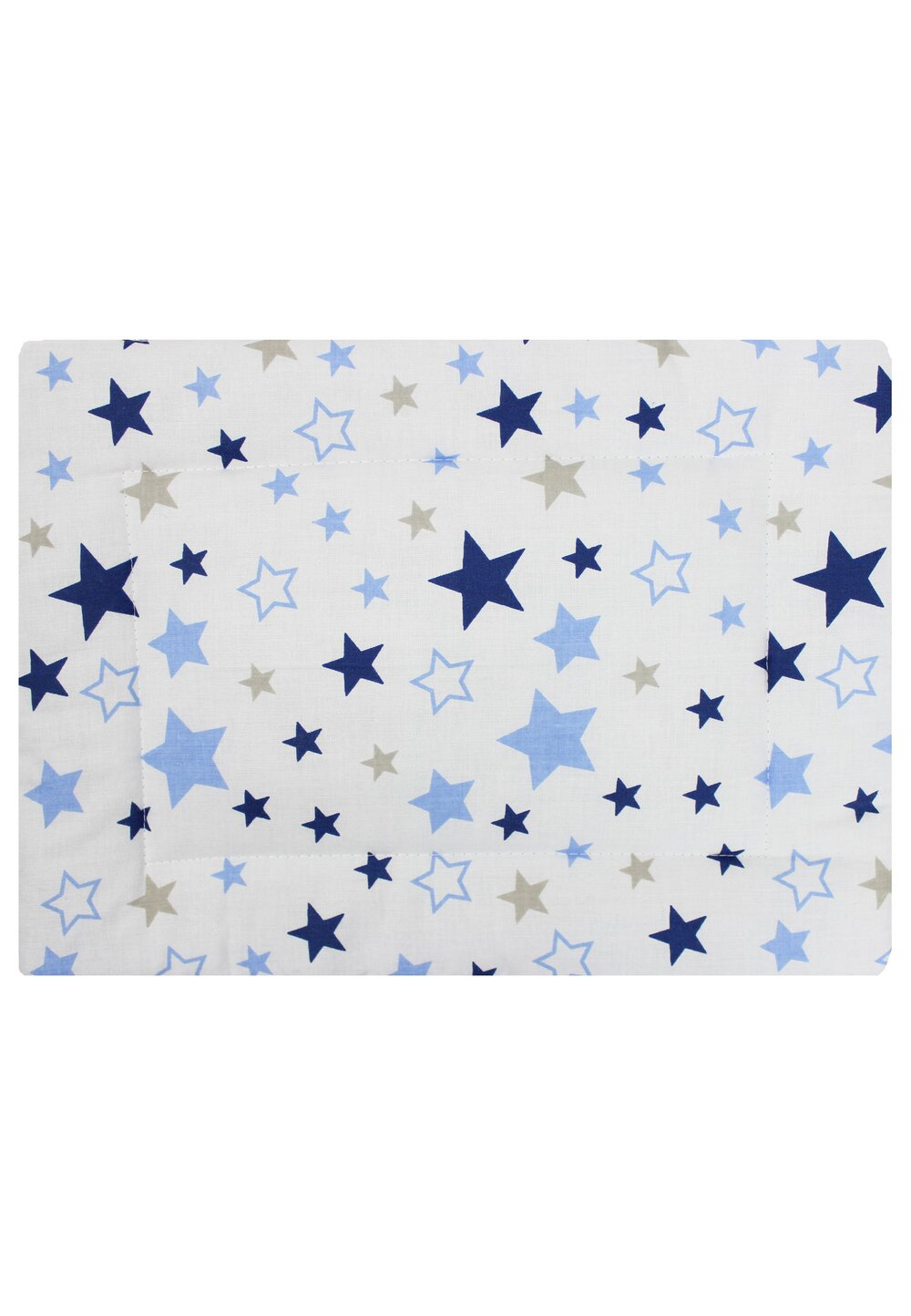 Perna slim, alba cu stelute albastre, 37x28cm imagine