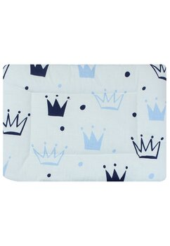Perna slim, coronite, Prince, alb cu albastru, 37x28cm