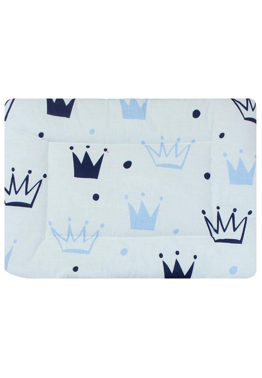 Perna slim, coronite, Prince, alb cu albastru, 37x28cm imagine