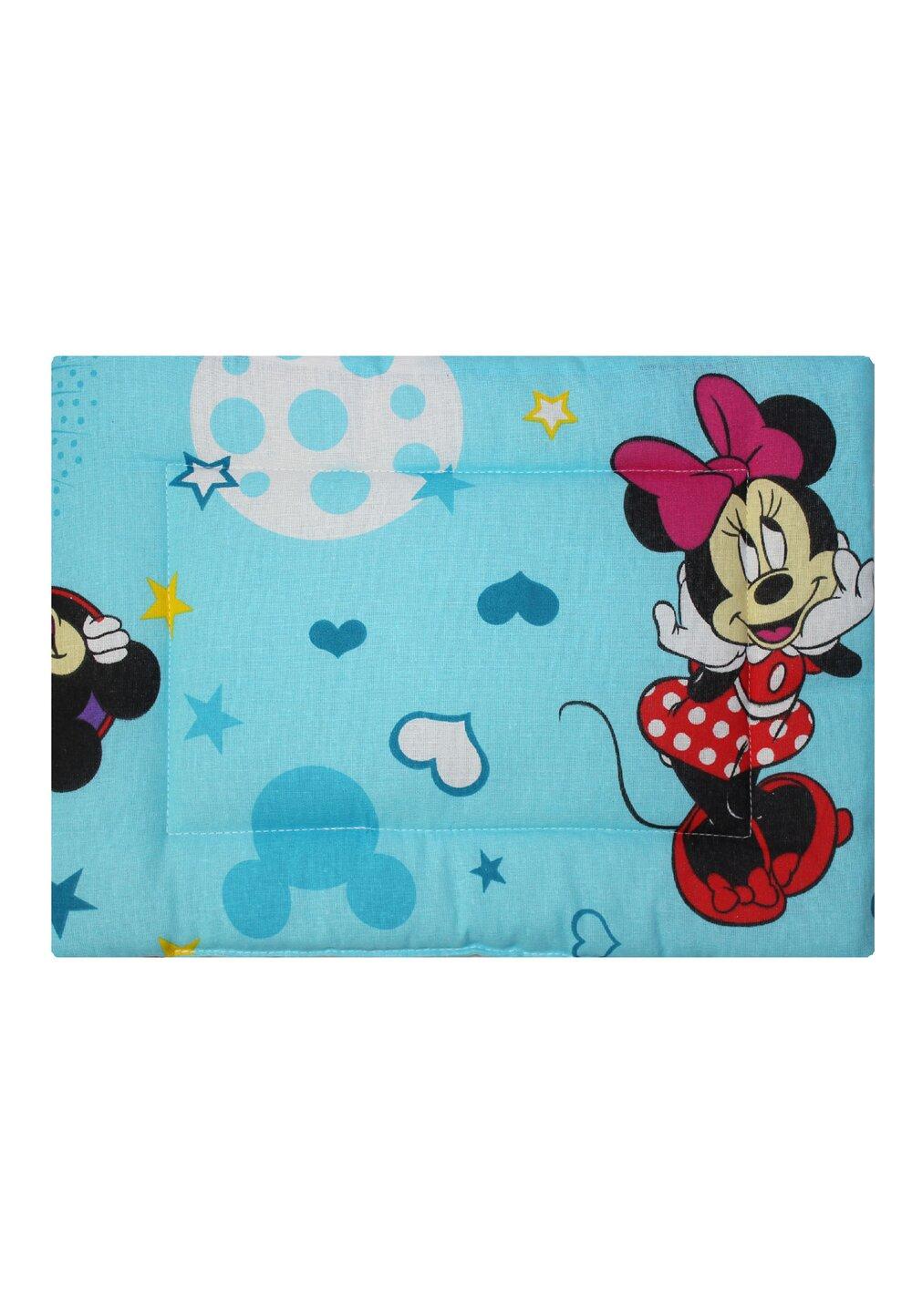 Perna slim, Minnie si Mickey, albastra cu stelute 37 x 28 cm imagine