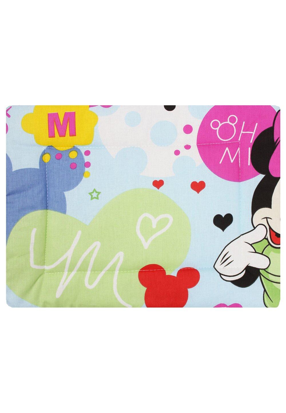Perna slim, Minnie si Mickey, albastru, 37x28cm imagine