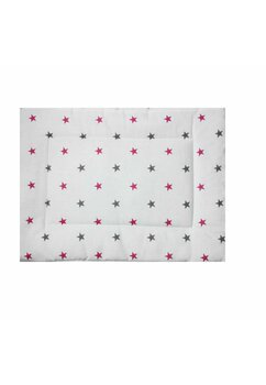 Perna slim, stelute roz cu gri, 37x28cm