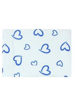 Perna slim, alba cu inimioare albastre, 37x28cm