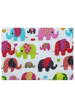 Perna slim, elefantei roz, 37x28cm