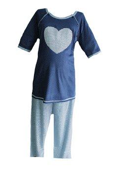 Pijama alaptat, bluemarin cu inimioara
