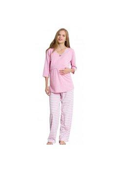 Pijama alaptat, maneca 3/4, roz