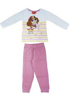Pijama, alb cu roz, Skye