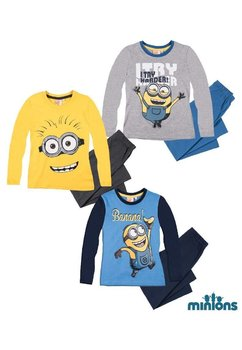 Pijama baieti, Minions I Try harder!, gri