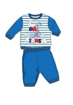 Pijama bebe, Dalmatieni, albastra